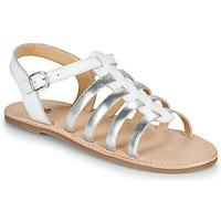 Topánky Dievčatá Sandále Citrouille et Compagnie MAYANA Biela / Strieborná