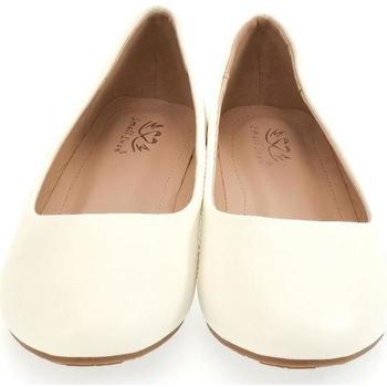 Topánky Ženy Balerínky a babies John-C Dámske biele baleríny LIASA béžová