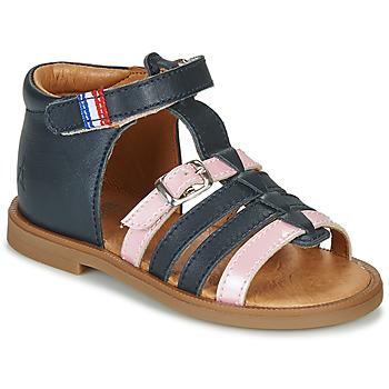 Topánky Dievčatá Sandále GBB GUINGUETTE Námornícka modrá / Ružová