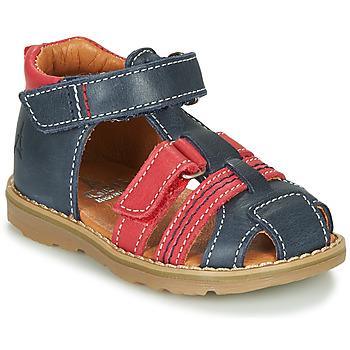 Topánky Chlapci Sandále GBB MACARON Námornícka modrá / Červená