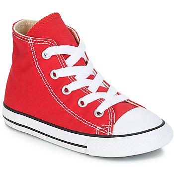 Topánky Deti Členkové tenisky Converse CHUCK TAYLOR ALL STAR CORE HI Červená