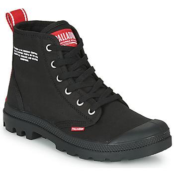 Topánky Polokozačky Palladium PAMPA HI DU C Čierna