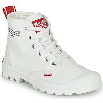 Topánky Polokozačky Palladium PAMPA HI DU C Biela
