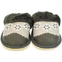 Topánky Ženy Papuče John-C Dámske sivé papuče MAJKA tmavosivá