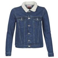 Oblečenie Ženy Džínsové bundy Moony Mood LOTITO Modrá / Medium