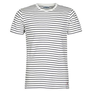 Oblečenie Muži Tričká s krátkym rukávom Casual Attitude KINO Námornícka modrá / Biela