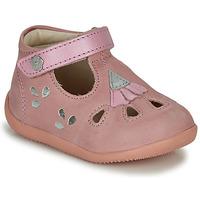 Topánky Dievčatá Sandále Kickers BLUPINKY Ružová / Strieborná