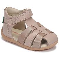 Topánky Dievčatá Sandále Kickers BIGFLO-2 Ružová / Metalická