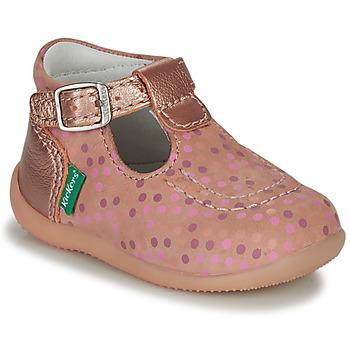 Topánky Dievčatá Sandále Kickers BONBEK-3 Ružová / Bodkovaný vzor