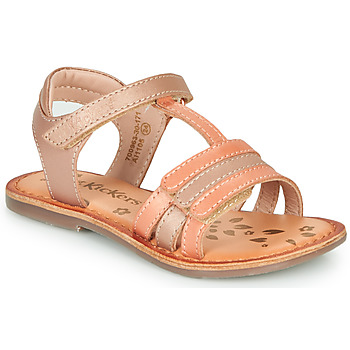 Topánky Dievčatá Sandále Kickers DIAMANTO Ružová / Oranžová