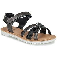 Topánky Dievčatá Sandále Kickers SHARKKY Čierna