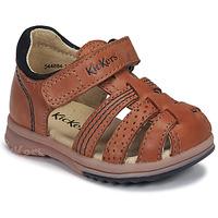 Topánky Chlapci Sandále Kickers PLATIBACK Ťavia hnedá