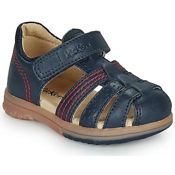 Topánky Chlapci Sandále Kickers PLATIBACK Námornícka modrá