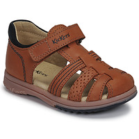 Topánky Chlapci Sandále Kickers PLATIBACK Hnedá