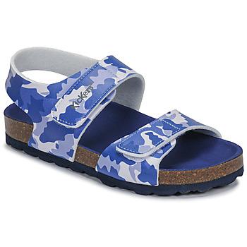 Topánky Chlapci Sandále Kickers SUMMERKRO Modrá