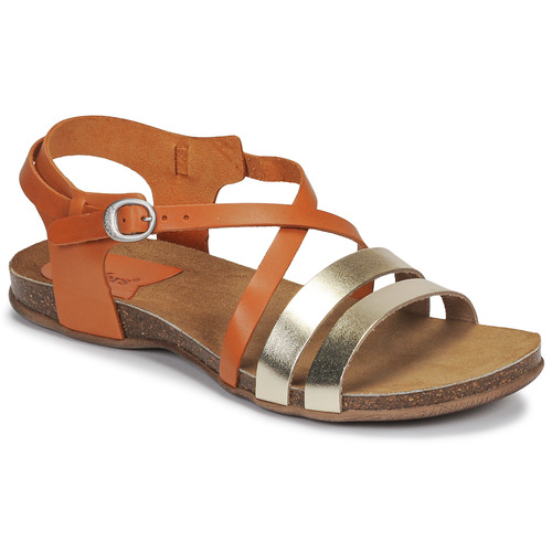Topánky Ženy Sandále Kickers ANATOMIUM Ťavia hnedá / Zlatá