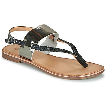 Topánky Ženy Sandále Kickers ESTHERA Čierna / Strieborná