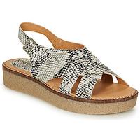 Topánky Ženy Sandále Kickers VICTORYNE Biela / Čierna / Hadí vzor