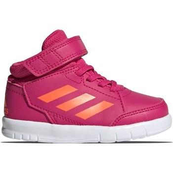 Topánky Dievčatá Členkové tenisky adidas Originals Altasport Mid EL I Ružová