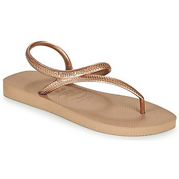 Topánky Ženy Žabky Havaianas FLASH URBAN Ružová / Zlatá