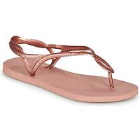 Topánky Ženy Žabky Havaianas LUNA Ružová / Zlatá