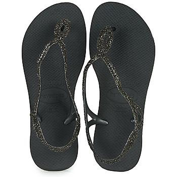 Topánky Ženy Žabky Havaianas LUNA PREMIUM Čierna