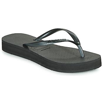 Topánky Ženy Žabky Havaianas SLIM FLATFORM Čierna