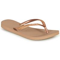 Topánky Ženy Žabky Havaianas SLIM GLITTER Ružová / Zlatá
