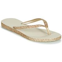 Topánky Ženy Žabky Havaianas SLIM SPARKLE Béžová / Zlatá