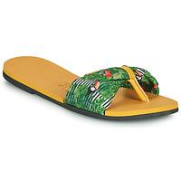 Topánky Ženy Žabky Havaianas YOU SAINT TROPEZ Žltá / Zelená