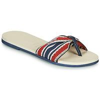 Topánky Ženy Žabky Havaianas YOU SAINT TROPEZ FITA Béžová / Námornícka modrá / Červená