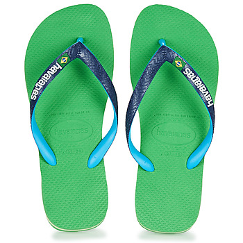 Topánky Žabky Havaianas BRASIL MIX Zelená / Modrá