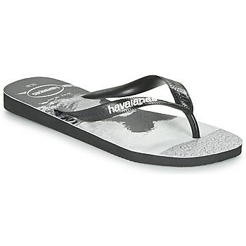Topánky Muži Žabky Havaianas TOP PHOTOPRINT Čierna / Biela