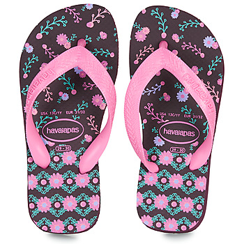 Topánky Dievčatá Žabky Havaianas KIDS FLORES Baklažánová