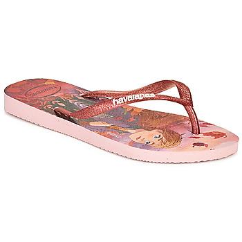 Topánky Dievčatá Žabky Havaianas KIDS SLIM FROZEN Ružová