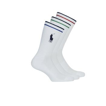 Textilné doplnky Muži Ponožky Polo Ralph Lauren 3PK BPP-SOCKS-3 PACK Biela