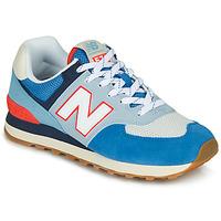 Topánky Nízke tenisky New Balance 574 Modrá / Šedá / Oranžová