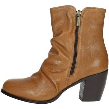 Topánky Ženy Polokozačky Elena Del Chio 5803 Brown leather