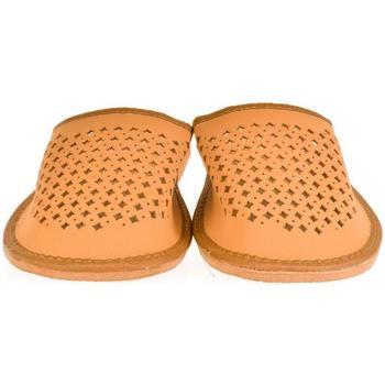Topánky Muži Papuče John-C Pánske hnedé papuče LUKY hnedá