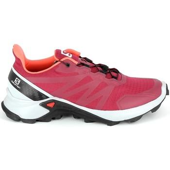 Topánky Turistická obuv Salomon Supercross Cerise Červená