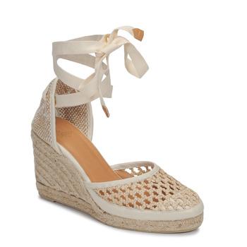 Topánky Ženy Sandále Castaner CAROLA Krémová