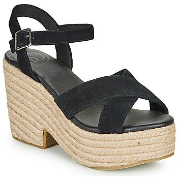 Topánky Ženy Sandále Superdry HIGH ESPADRILLE SANDAL Čierna