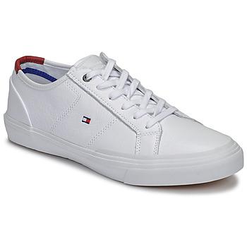 Topánky Muži Nízke tenisky Tommy Hilfiger CORE CORPORATE FLAG SNEAKER Biela