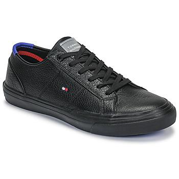 Topánky Muži Nízke tenisky Tommy Hilfiger CORE CORPORATE FLAG SNEAKER Čierna