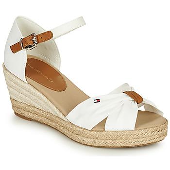 Topánky Ženy Sandále Tommy Hilfiger BASIC OPENED TOE MID WEDGE Biela