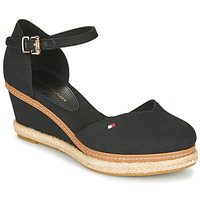 Topánky Ženy Sandále Tommy Hilfiger BASIC CLOSED TOE MID WEDGE Čierna