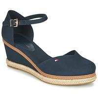 Topánky Ženy Sandále Tommy Hilfiger BASIC CLOSED TOE MID WEDGE Modrá