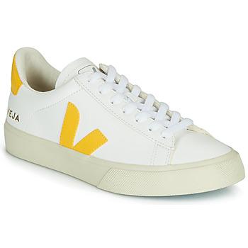 Topánky Nízke tenisky Veja CAMPO Biela / Žltá