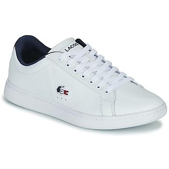 Topánky Ženy Nízke tenisky Lacoste CARNABY EVO TRI 1 SFA Biela / Námornícka modrá / Červená