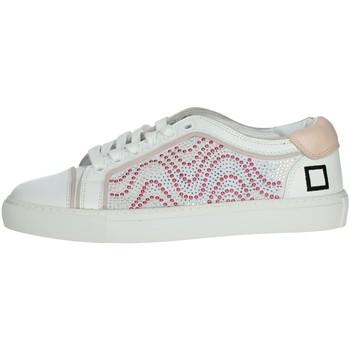 Topánky Ženy Nízke tenisky Date E20-6 White/Pink